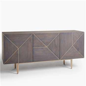 John Lewis & Partners + Swoon Mendel Sideboard, Grey (H76.5 x W162 x D45cm)