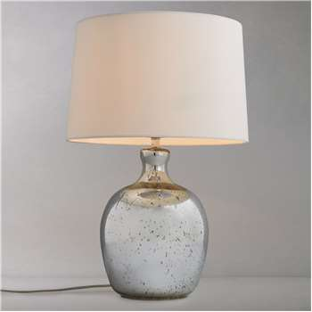 John Lewis & Partners Tabitha Distressed Mirror Table Lamp (H53 x W36 x D36cm)