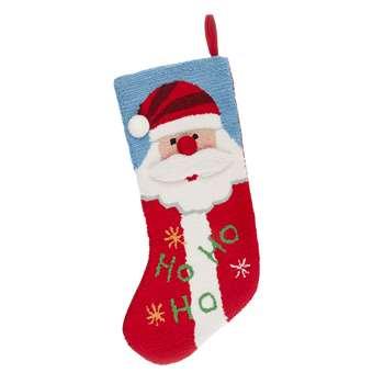 John Lewis & Partners Tapestry Santa Stocking (H47 x W27 x D2cm)