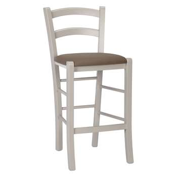 John Lewis & Partners Tavern Bar Chair, Cream (H89 x W40 x D43.5cm)