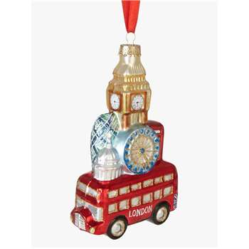 John Lewis & Partners Tourism London Scene Stack Bauble (H12 x W7 x D3cm)