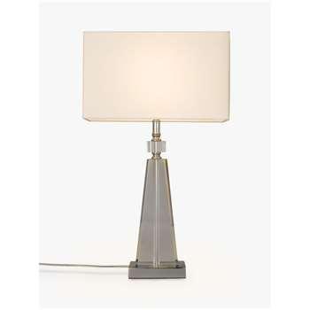 John Lewis & Partners Trisha Triangle Glass Table Lamp, Clear (H51 x W30 x D30cm)