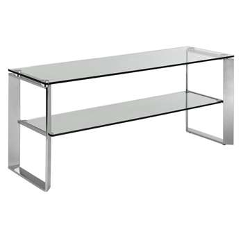 John Lewis & Partners Tropez Glass TV Stand For TVs up to 60 (H52 x W120 x D40cm)