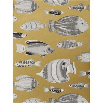 John Lewis & Partners Tropical Fish Wallpaper, Metallic (H1000 x W52cm)