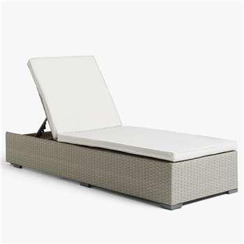 John Lewis & Partners Valencia Sun Lounger, Light Grey (H28 x W70 x D196cm)