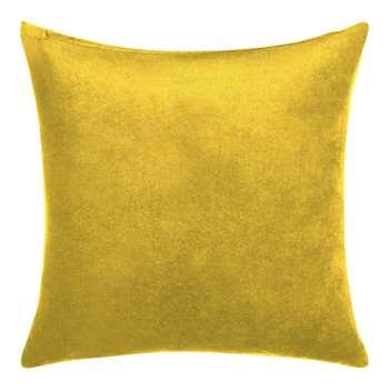 John Lewis & Partners Velvet Cushion, Saffron (H45 x W45cm)