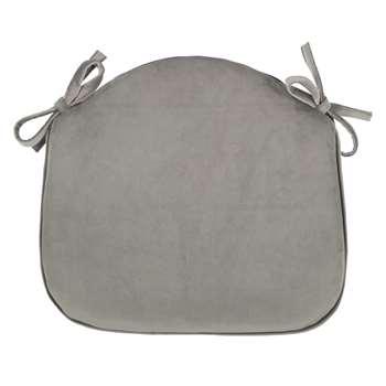 John Lewis & Partners Velvet Seat Pad, Silver (H41 x W42 x D4cm)