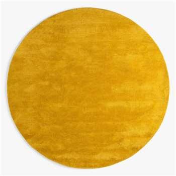 John Lewis & Partners Wellington Round Rug, Saffron (Diameter 180cm)