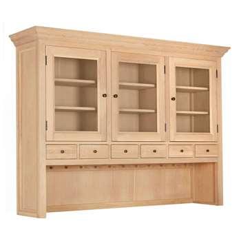 John Lewis & Partners Wickham Large Sideboard Dresser Top, Oak (H126 x W173.4 x D39.7cm)