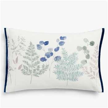 John Lewis & Partners Wisley Border Cushion, Blue / Multi (H40 x W60cm)
