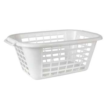 John Lewis Plastic Rectangular Laundry Basket 26 x 67cm