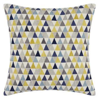 John Lewis Prism Cushion Blue