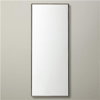 John Lewis Rectangle Iron Mirror, Nickel (76 x 30cm)