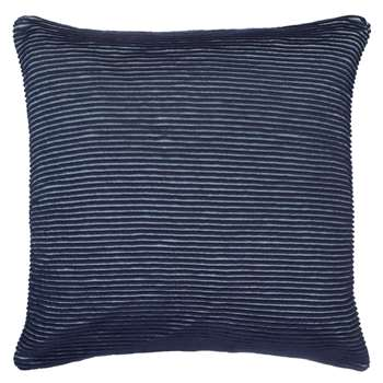 John Lewis Rib Knit Cushion, Navy (50 x 50cm)