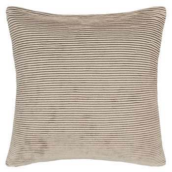 John Lewis Rib Knit Cushion, Putty (50 x 50cm)