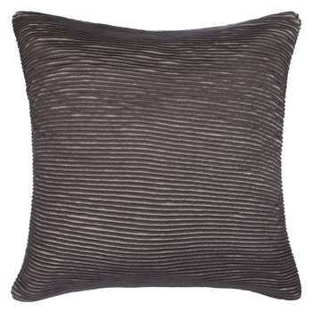 John Lewis Rib Knit Cushion, Storm (50 x 50cm)