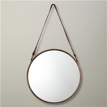 John Lewis Round Hanging Mirror, Copper (Diameter 30cm)