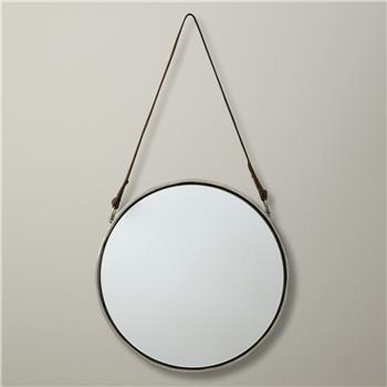 John Lewis Round Hanging Mirror, Dia.30cm Nickel