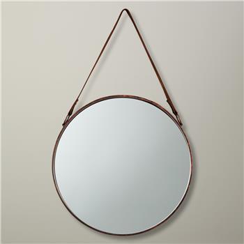 John Lewis Round Hanging Mirror, Copper (Diameter 38cm)