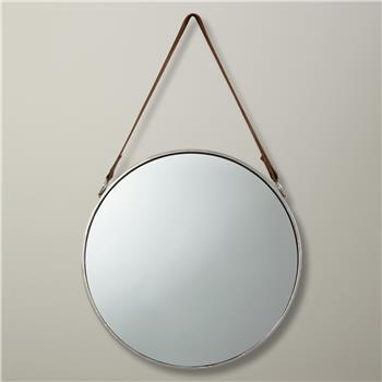 John Lewis Round Hanging Mirror, Dia.38cm Nickel