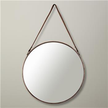 38bf344f9573 John Lewis Round Hanging Mirror, Dia. 50cm Copper