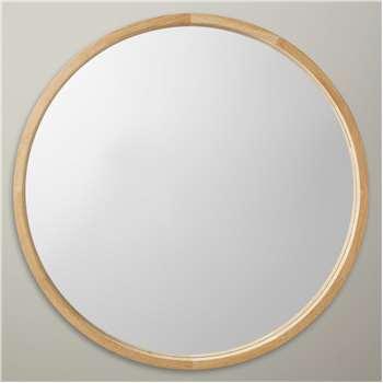 John Lewis Round Oak Scandi Mirror, 70 x 70cm, Natural (H70 x W70 x D6cm)