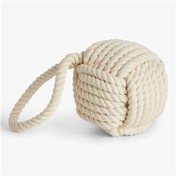 John Lewis Round Rope Doorstop, Natural