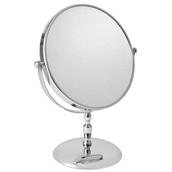 John Lewis Round Stem Chrome Mirror 30 x 19cm