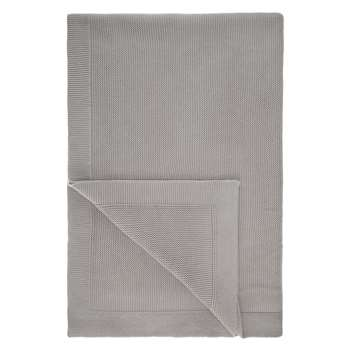 John Lewis Rye Plain Knit Throw, Grey (150 x 200cm)