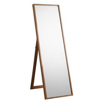 John Lewis Scandi Cheval Oak Mirror, Natural (160 x 50cm)