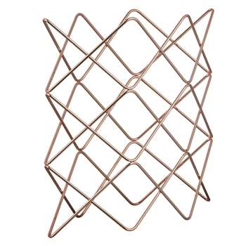 John Lewis & Partners Scandi Copper Wine Rack, 9 Bottle (H37.5 x W37 x D15.5cm)