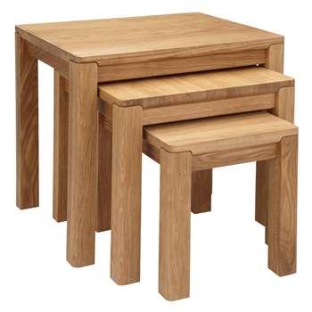 John Lewis Seymour Nest of 3 Tables, Oak (Width 56cm)