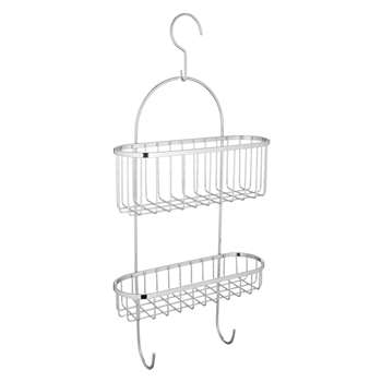 John Lewis Shower Basket with Hooks (58 x 26cm)