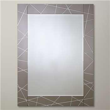 John Lewis Smoke Engraved Mirror (102 x 76cm)