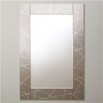 John Lewis Smoke Engraved Mirror (90 x 60cm)
