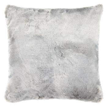 John Lewis & Partners Soft Faux Fur Large Cushion, Grey (H59 x W59cm)