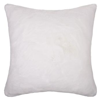 John Lewis Soft Faux Fur Floor Cushion White