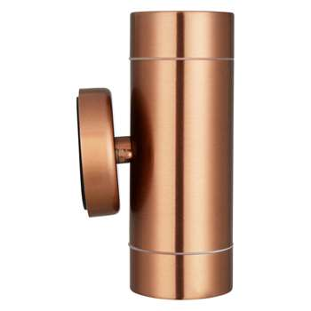 John Lewis Strom Outdoor LED Wall Light, Copper (16.4 x 8.5cm)