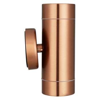 John Lewis Strom Outdoor LED Wall Light, Copper (16.4 x 8.5cm)