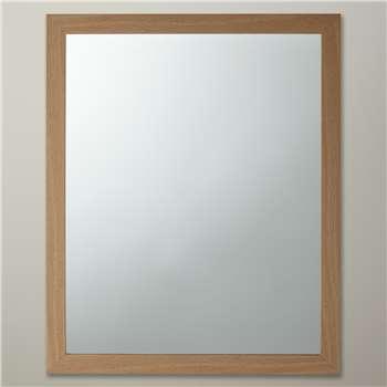 John Lewis The Basics Rectangular Wall Mirror - Wood, 55 x 45cm