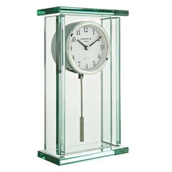 John Lewis Theia Pendulum Mantel Clock (23.6 x 14cm)