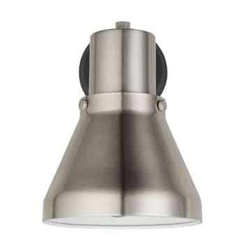 John Lewis Trent Mini Wall Light, Steel (18 x 14cm)