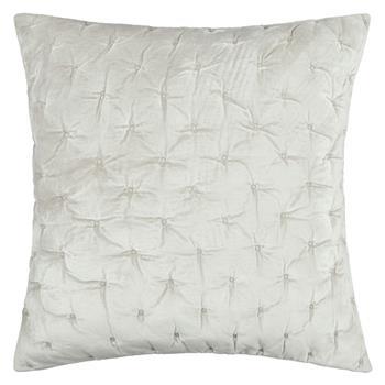 John Lewis Velvet Stitch Cushion Cover, Frost Frost