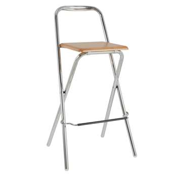 John Lewis Verona Folding Bar Chair, Beech (96 x 50cm)