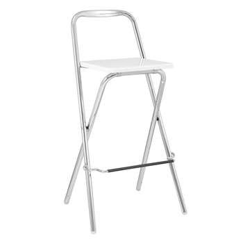 John Lewis Verona Folding Bar Chair, White (96 x 50cm)