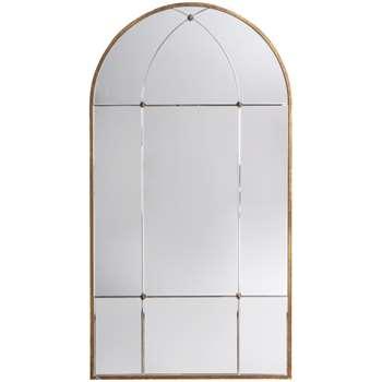 John Lewis Vina Embellished Arched Mirror, Antique Gold (H140 x W76 x D2.5cm)