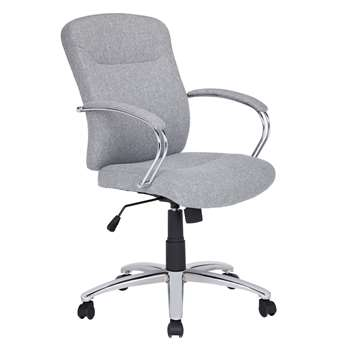 John Lewis Warner Fabric Office Chair, Grey (94 x 65cm)