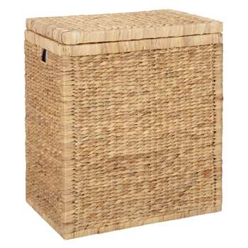 John Lewis Water Hyacinth Double Laundry Hamper (68 x 55cm)