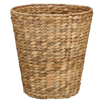 John Lewis Water Hyacinth Wastepaper Bin (Height 29cm)