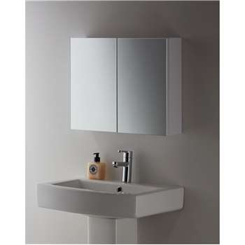 John Lewis White Metal Double Bathroom Cabinet (45 x 55cm)